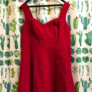 Vintage Style Red Dress